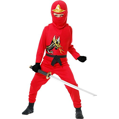 Red Ninja Avenger II Kids Costume