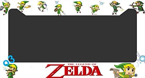 legend-of-zelda-link-triforce-collage-license-plate-frame-alumminum-car-auto-link