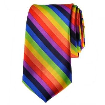 TopTie Unisex Fashion Diagonal Colorful Rainbow Stripe