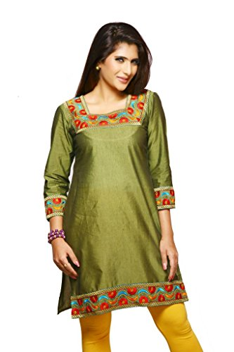 Weaves Suvasthra Weaves Women's Kurti (Green)