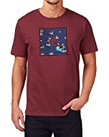 Rip Curl Men's Square Icon Yardages Crew Neck Short Sleeve T-Shirt