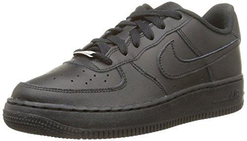 Nike Air Force 1 (Gs) Scarpe Sportive, Bambini E Ragazzi, Black/Black-Black, 38.5