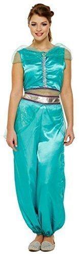 Donna Jasmine Principessa Araba Danzatrice Del Ventre Costume Travestimento 8-12