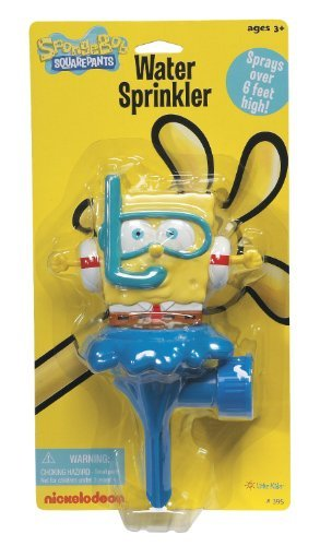 SpongeBob Water Sprinkler sprays over 6 feet high by Nickelodeon