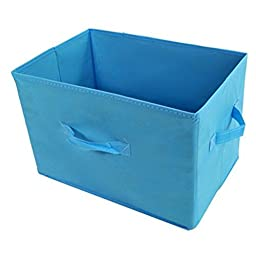 Generic Cloth Folding Storage Box-Blue