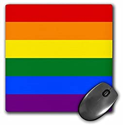 3dRose LLC 8 x 8 x 0.25 Inches Mouse Pad, Rainbow Flag Multicolor Colorful Stripes Multicolored Gay Pride Lgbt Movement Pride Parade (mp_159841_1)