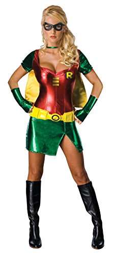 Become Batman's side kick in this Sexy Womens Robin Costume - Three Sizes from 6 to 12