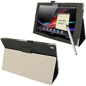 Funda Smart Cover CUERO Negra MULTIFUNCION Sony Xperia Z TABLET 10.1 + Puntero  Electrónica revisión y descripción más