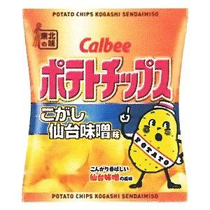 カルビー ポテトチップスこがし仙台味噌味 58g×12袋