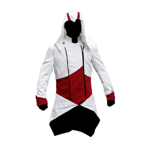 Samnas Traders Assassins Creed 3 Game Cosplay Faux Leather Jacket Coat