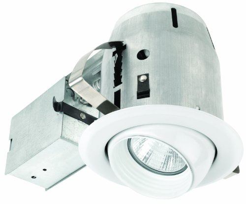 Globe Electric 90064 4 Inch Recessed Lighting Kit, Eye-Ball Regressed Swivel, White Finish With White Baffle, Spot Light