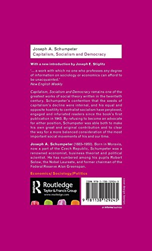 Capitalism, Socialism and Democracy (Routledge Classics)