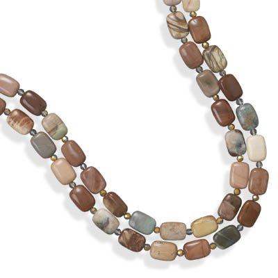 Double Strand Fall Jasper Necklace