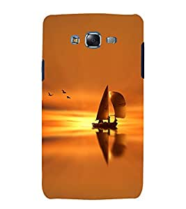 Fuson Premium Back Case Cover Boat With Black Background Degined For Samsung Galaxy Grand i9080:::Samsung Galaxy Grand i9082