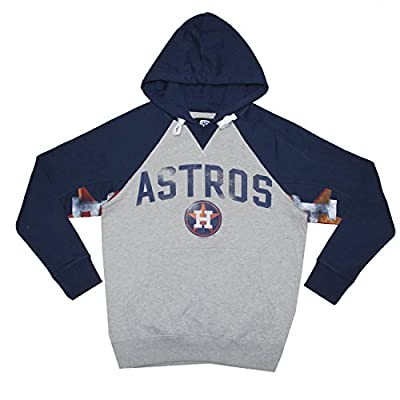 Mens MLB Athletic Pullover Hoodie: HOUSTON ASTROS