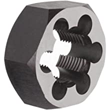 "Union Butterfield 2025(UNF) Carbon Steel Hexagon Threading Die, Uncoated (Bright) Finish, 1-1/4""-12 Thread Size"