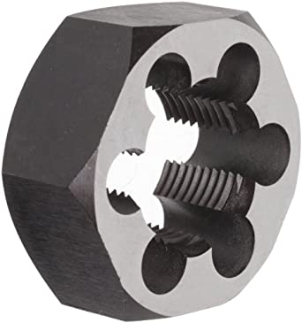 """Union Butterfield 2025(UNF) Carbon Steel Hexagon Threading Die, Uncoated (Bright) Finish, 1-1/4""""-12 Thread Size"""