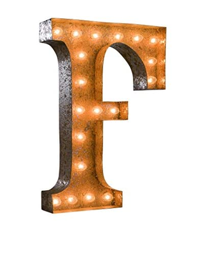 24 Vintage-Inspired Letter F Marquee Light