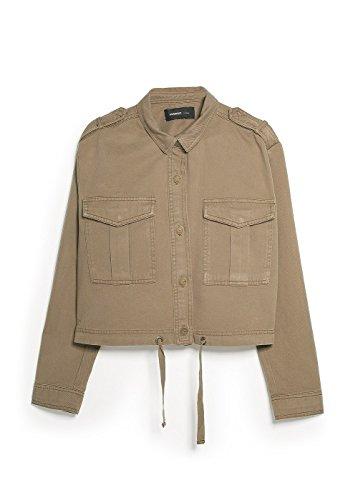 Mango Women'S Military Cropped Jacket, Khaki, S