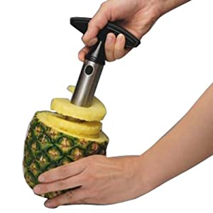New Pineapple Peeler, Corer & Slicer - Stainless Steel