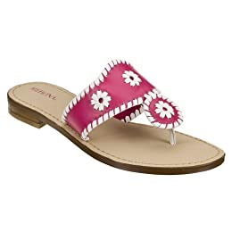 Product Image Women's Merona® Enid Whipstitch Flat Sandals - Hot Pink/White