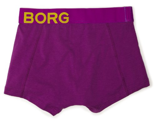 Bjorn Borg Men's Side Stetch Solid Boxer Brief, Purple, Small