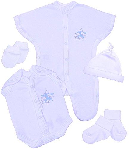 Premature Baby Clothes 5 Piece SCBU Gift Set - Sleepsuit, Bodysuit, Hat,Mittens & Socks 1 - 5.5lb Pink or Blue