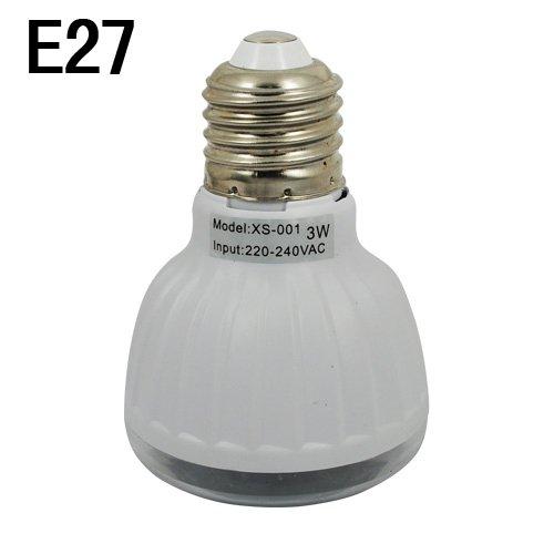 Far Infrared Sensor And Voice Sensing Lamp-E27 3W Input 220-240V-White Light
