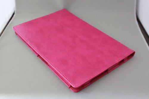 Homu HomuXperia Tablet Z SO-03E全6色PUレザーケース PUレザーカバー エクスペリアタブレットZ レザーケースレザーカバースタンド機能付/SGP312JP (ホットピンク)(22-3)