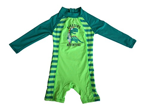 Bonverano(TM) Infant Boy's UPF 50+ Sun Protection L/S One Piece Zip Sun Suit (12-18 months) (Thermal Swimsuit For Baby compare prices)
