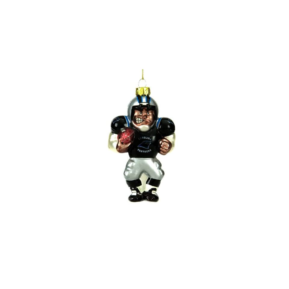 Carolina Panthers NFL Glass Player Ornament (5 African American
