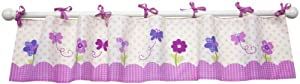 NoJo Little Bedding  Little Flowers Window Valance