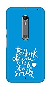 AMEZ to think of you is to smile Back Cover For Motorola Moto X Style