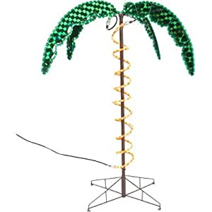 How To String Lights On A Tall Tree : Amazon.com : Roman 169482 Lights Tall Holographic Ropelight Palm Tree-Plugs In Statue, 4.5-Feet ...