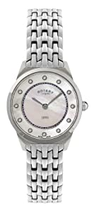 Rotary Women's Quartz Watch Ultraflach LB08000/02 with Metal Strap