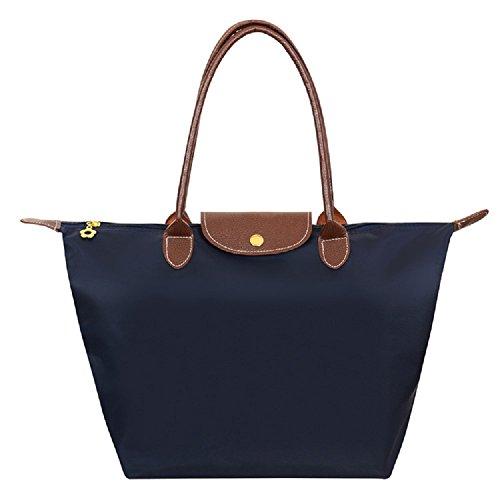 Designer Nylon Waterproof Tote Shoulder Bag in 3 sizes & 14 colours