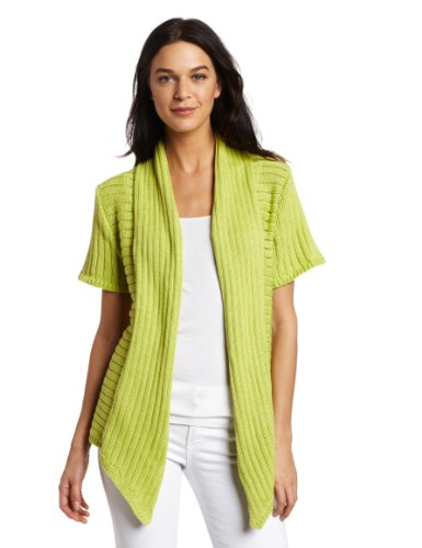 Pure Handknit Women's Runaway Cardigan Sweater, Magaritaville Lime, Large