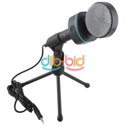 New 3.5Mm Stereo Plug Studio Speech Mic Microphone Stand For Pc Desktop Notebook
