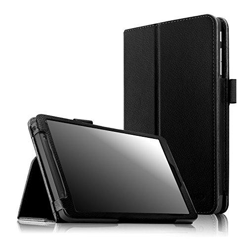 Infiland Folio PU Leather Slim Fit Stand Case Cover for 8-Inch Verizon Ellipsis 8 4G LTE Tablet ,Black (Verizon 4g Lte Protective Case compare prices)