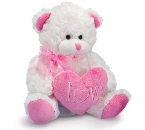 Push & Pull ToysBaby Toys: Love Plush White Bear with Pink ...