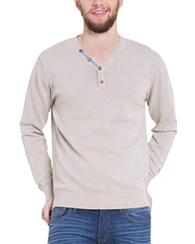 BIG STAR Pullover Blonis_V-Neck_Sweater 884 L  [Beige]