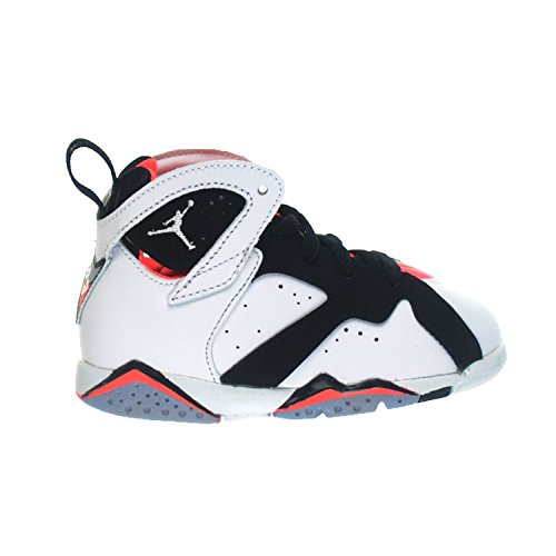 Jordan 7 Retro GT Infant Toddlers Baby Shoes White/White Black-Hot Lava 705418-106 (9 M US)