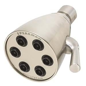 Speakman S-2252-BN Icon Anystream High Pressure Adjustable Shower Head, Brushed Nickel