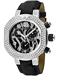 Women's CXX Scuba Chronograph White Diamond Black Satin