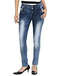 Avarice Women's Slim Fit Jeans (AV_04, Blue, 32)