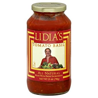 Lidias Italy Tomato Basil Pasta Sauce, 25 Ounce -- 6 per case.