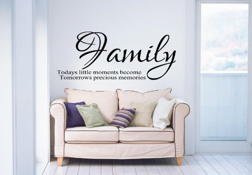 Family Todays Little Moments Inspirational Home Wall Sticker front-107396