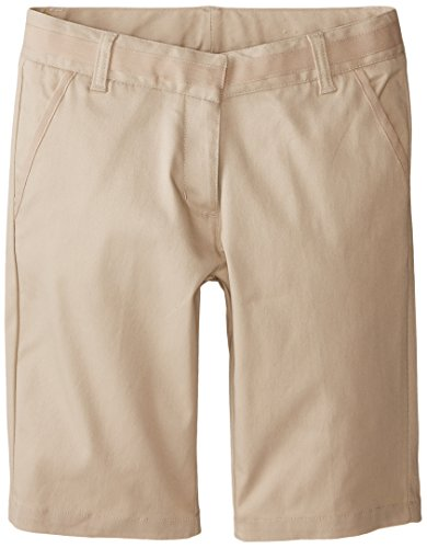 Nautica Big Girls' Skinny Bermuda Short, Khaki, 16