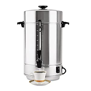 Focus Foodservice 58001R Regalware Commercial Aluminum Coffeemaker with Non-Drip Spigot, 101-Cup