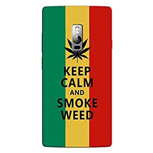 KEEP CALM AND SMOKE WEED BACK COVER FOR ONE PLUS ONE